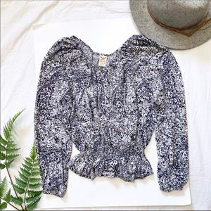 Faded Glory Tops - Faded Glory Boho Peasant Blouse • Sz M